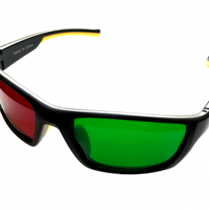 Wraparound Red/Green Glasses (Adult Size)-0