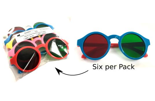 Pediatric Red/Green Glasses (6 pack)-0