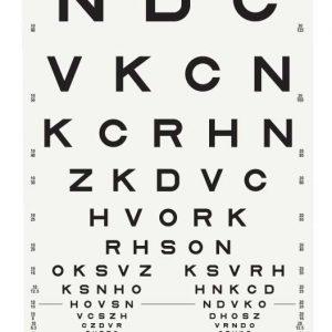 Sloan Letter Acuity Chart (3 meter)-0