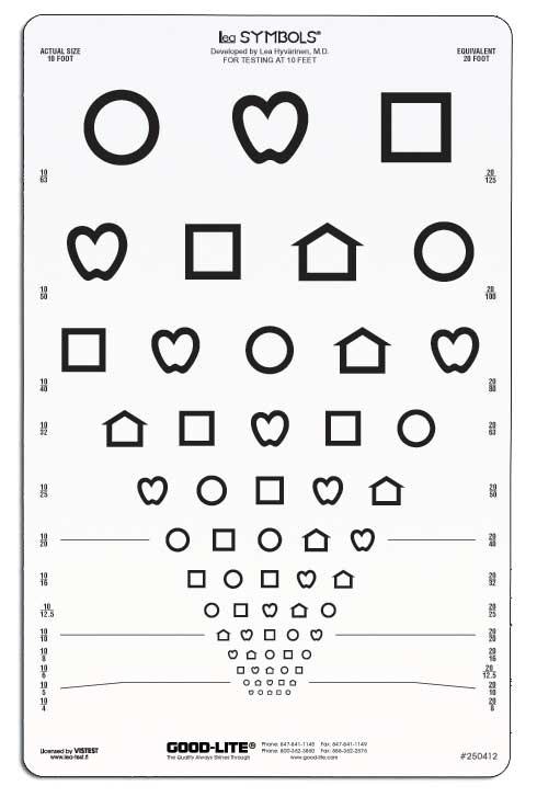 LEA Symbols Acuity Chart (3 meter)-0