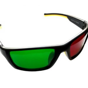 Reverse Wraparound Red/Green Glasses (Adult Size)-0