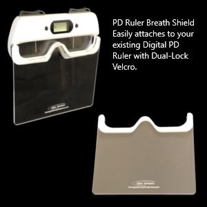 Digital PD Ruler Breath Shield